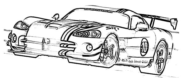 Dodge Car Viper ACR X Coloring Pages : Coloring Sky