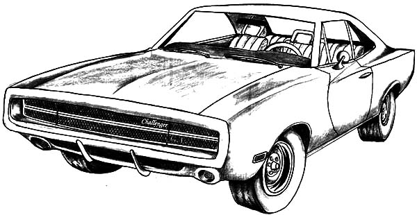 Dodge Challenger GT Coloring Pages : Coloring Sky