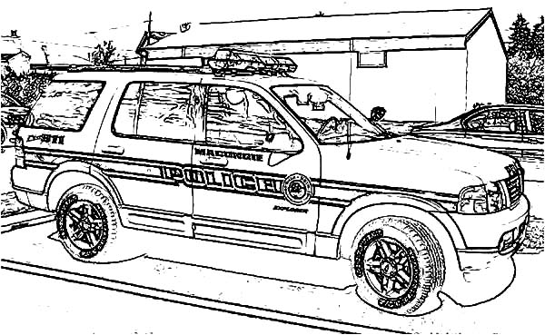 Dodge Charger Police Car Coloring Pages : Coloring Sky