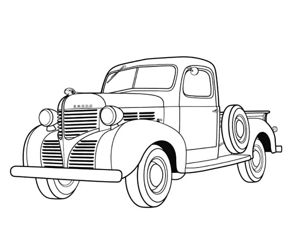 Dodge Ram Classic Car Coloring Pages: Dodge Ram Classic