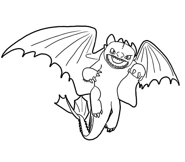 Furious Night Fury How to Train Your Dragon Coloring Pages