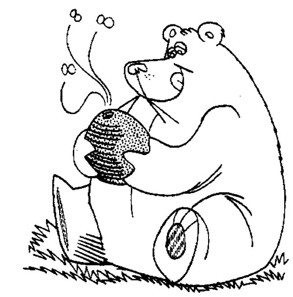 Giant Honey Bear Coloring Pages : Coloring Sky