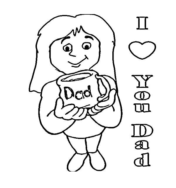 Daddy Loves Daughter Coloring Pages Coloring Pages