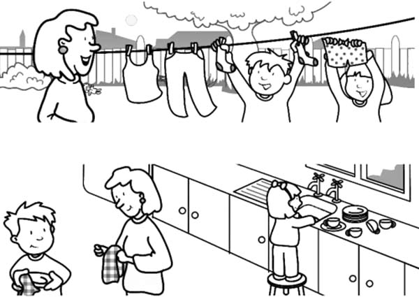 Helping Others Kids Cross Busy Street Coloring Pages