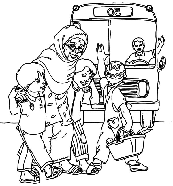 Helping Others Cross The Street Coloring Pages : Coloring Sky