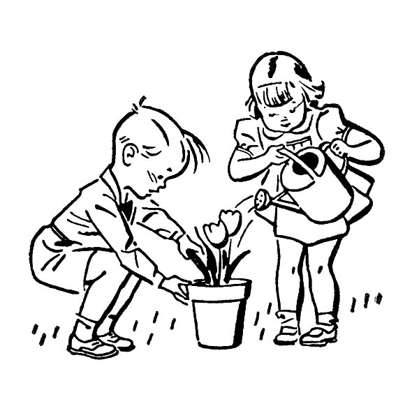 Helping Others Dying Thirsty People Coloring Pages