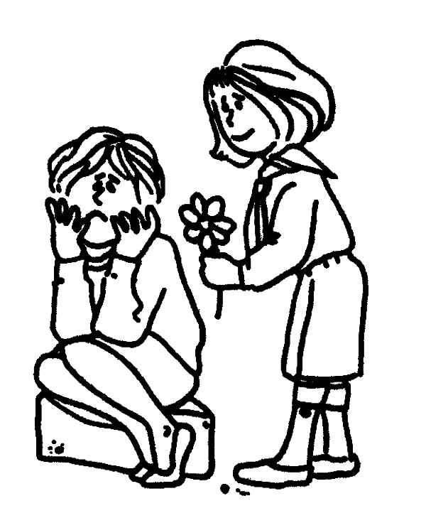 Helping Others Coloring Pages Sketch Coloring Page