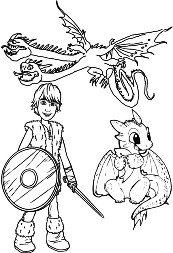 Hiccup And Baby Dragon In How To Train Your Dragon