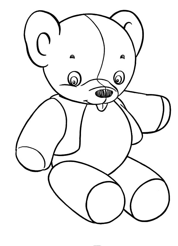 Holidays Teddy Bear Slipped Tongue Coloring Pages