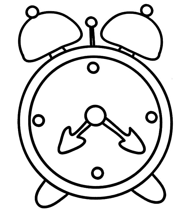 How To Draw Alarm Clock Coloring Pages : Coloring Sky
