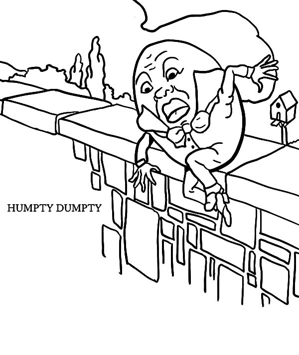 Humpty Dumpty Slips Away Coloring Pages : Coloring Sky