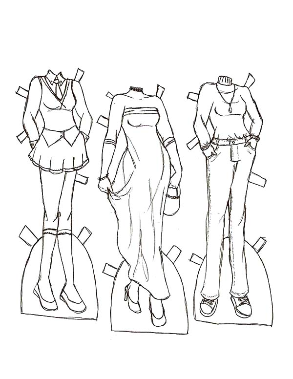 Kelly De Winter Clothes Doll Dress Coloring Pages