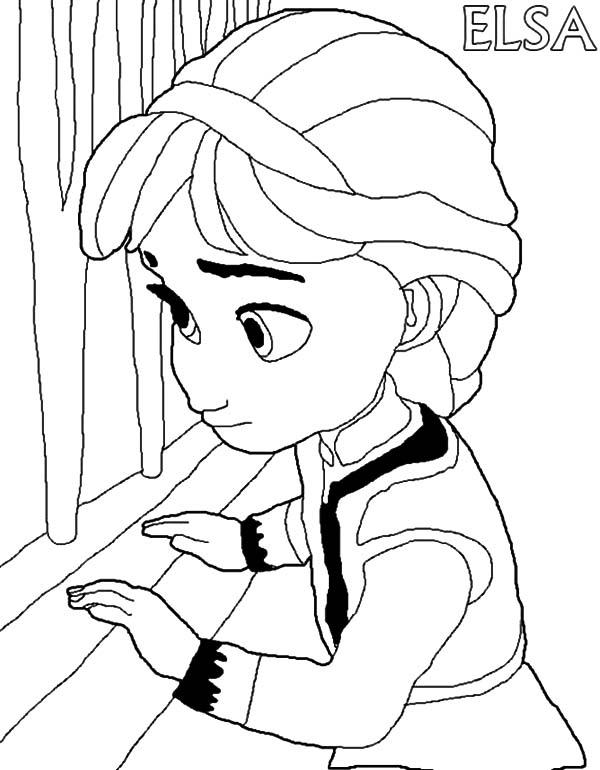 Little Elsa Coloring Pages Bgcentrum