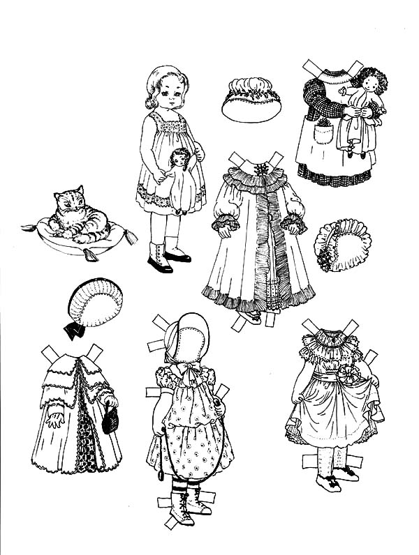 Barbie Doll With Dress At The Garden Coloring Pages