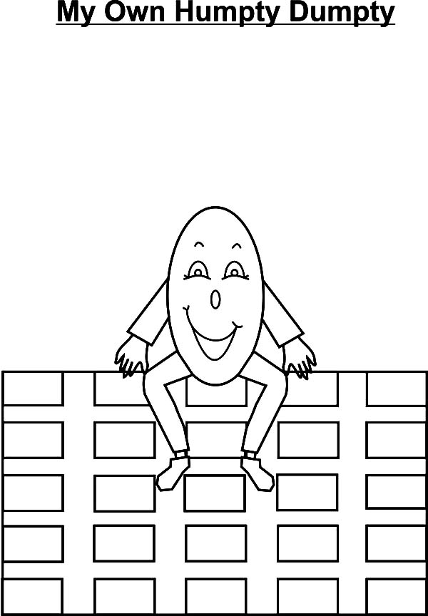 Humpty Dumpty Outline Coloring Pages: Humpty Dumpty