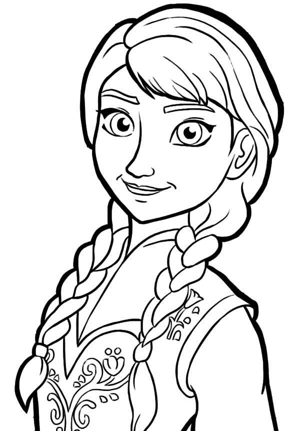 Frozen Anna Elsa Kristoff Olaf Coloring Pages  Coloring Sky