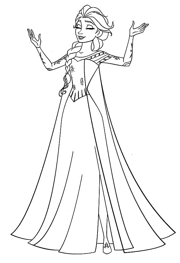 Queen Elsa Singing Coloring Pages : Coloring Sky
