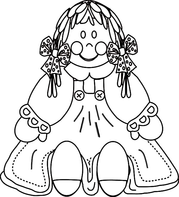 Scary Old Doll Dress Coloring Pages : Coloring Sky
