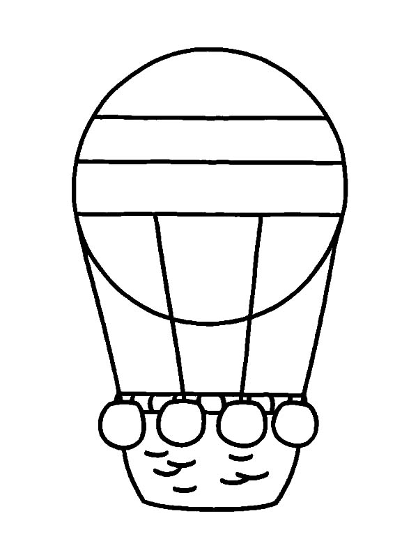 Simple Coloring Pages For Preschoolers Color The Balloons