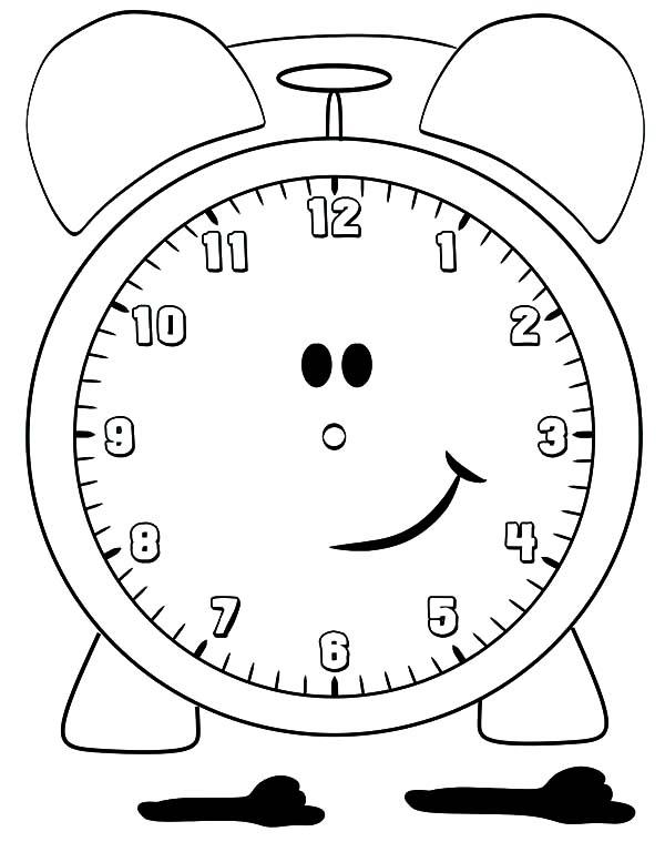 alarm clock coloring sheets