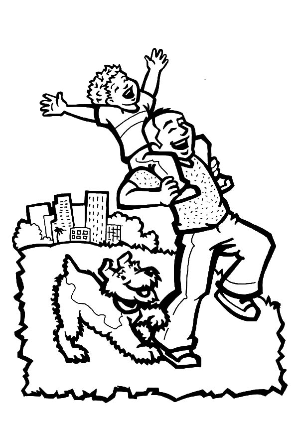 Daddy and Her Daughter I Love Dad Coloring Pages: Daddy