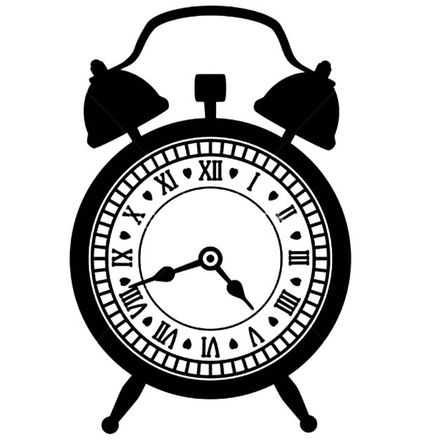 Vintage Alarm Clock Coloring Pages : Coloring Sky