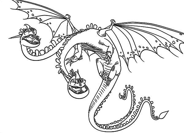 Zippleback Twin Heads Dragon in How to Train Your Dragon