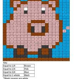 FF7 Pig Color free fractions decimals percent worksheet - Coloring Squared [ 2200 x 1700 Pixel ]