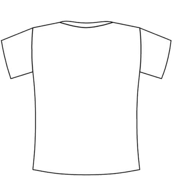 blank tshirt - coloring squared