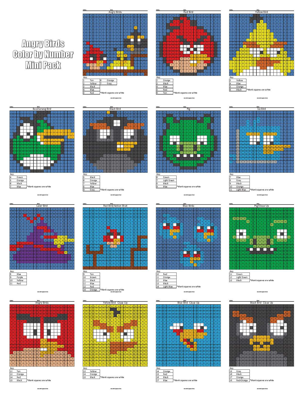 Angry Bird Color 16 By