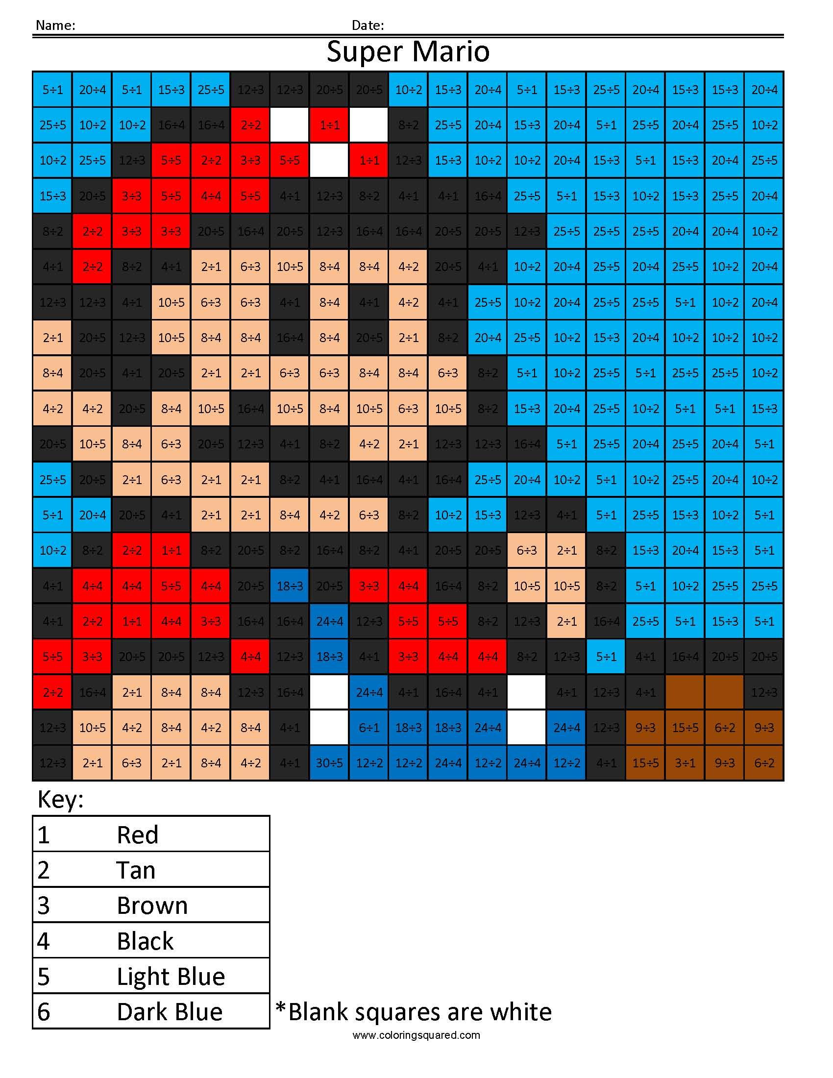 Super Mario Basic Division