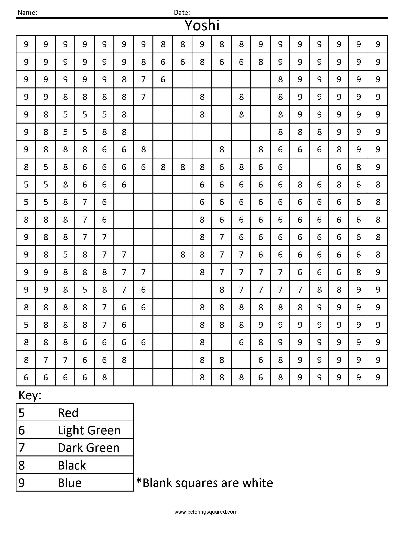 Jungle Color By Numbers Worksheet