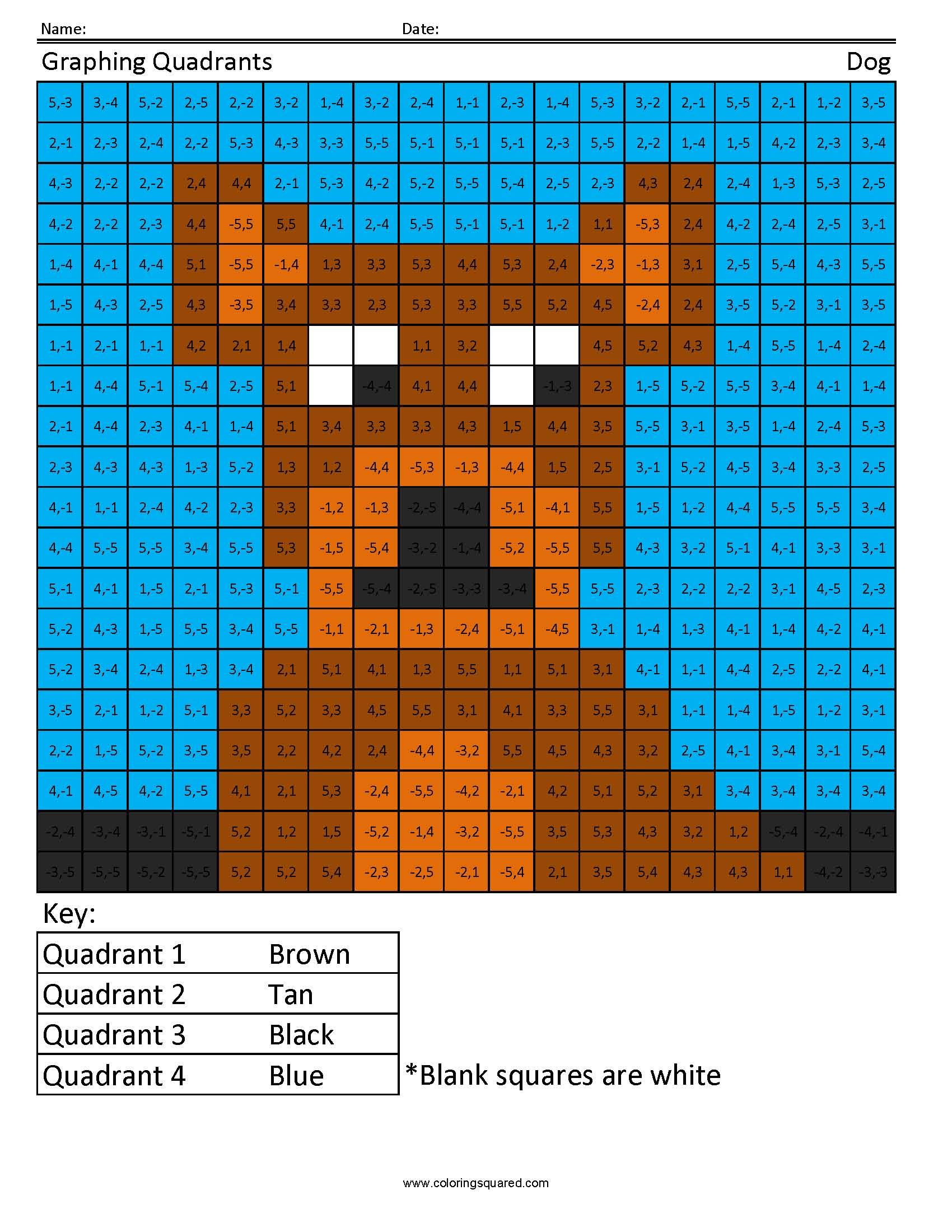 4gm Quadrants Dog Geometry And Measurement
