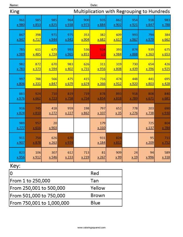 Advanced Math - Coloring Squared