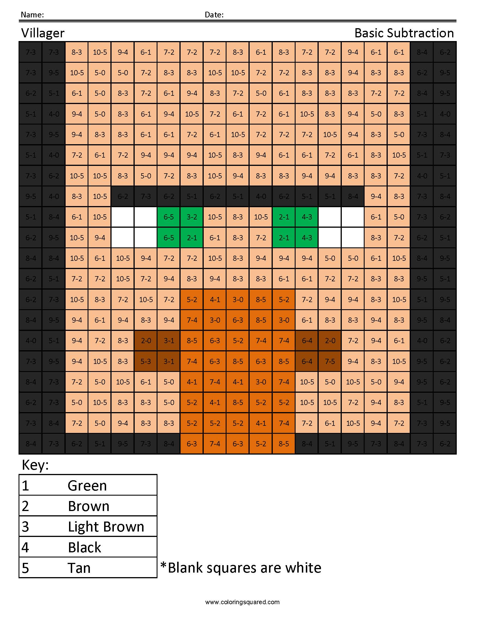 Villager Basic Subtraction