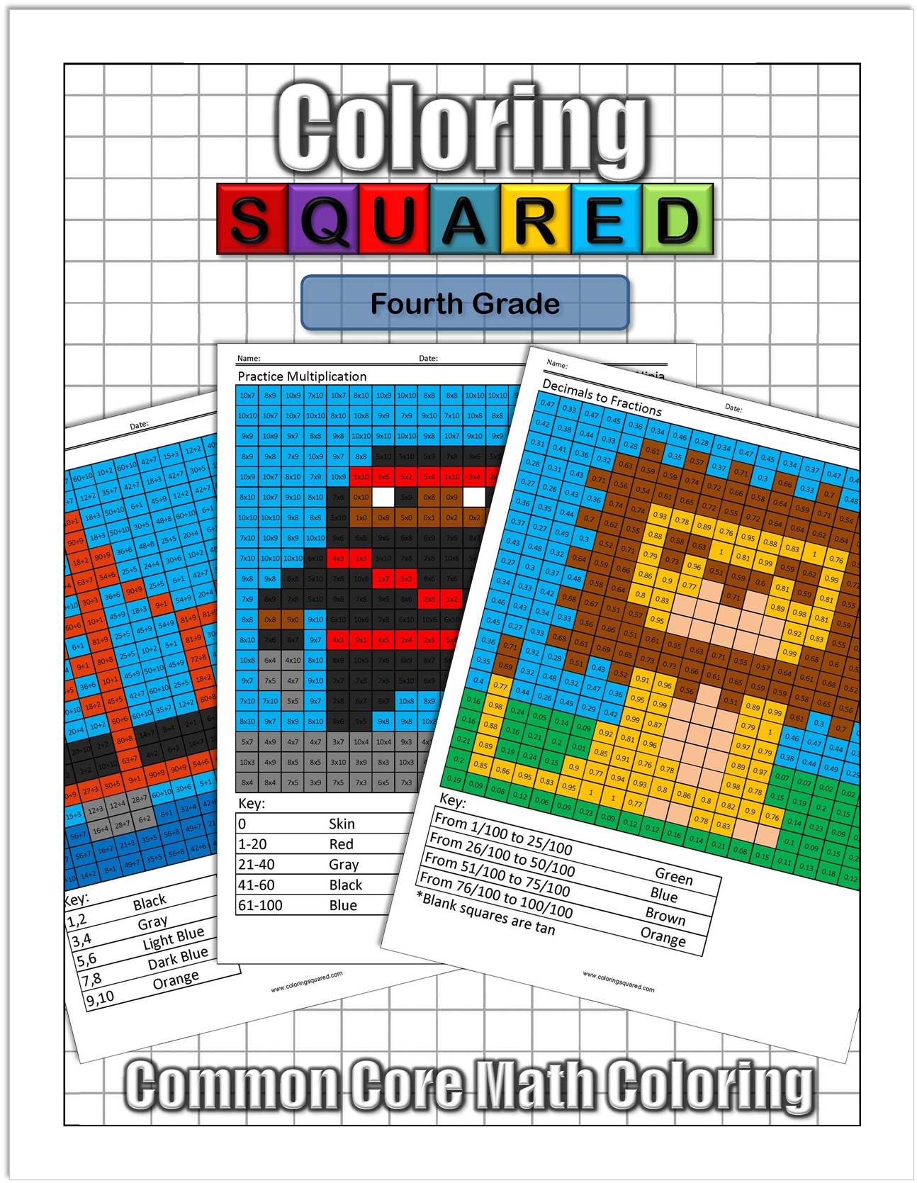 hight resolution of 4th Grade Math - Coloring Squared