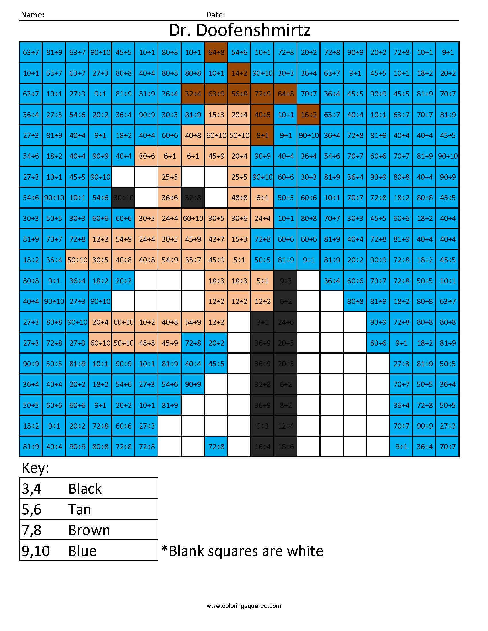 Cartoon Multiplication And Division