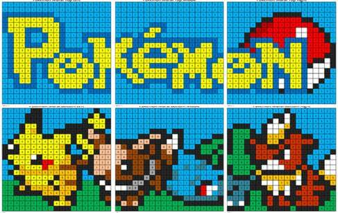 Pokémon Mural- Color by Number | Coloring Squared