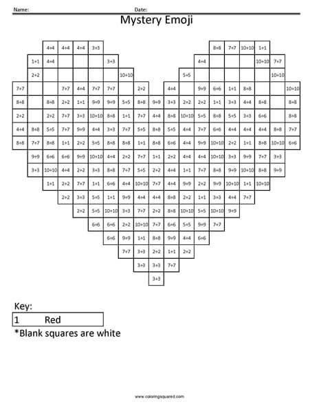 Emoji Math Mystery Worksheets. Emoji. Best Free Printable