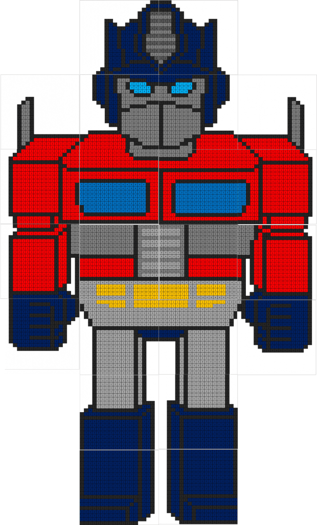 Transformers Addition And Subtraction Coloring Squared