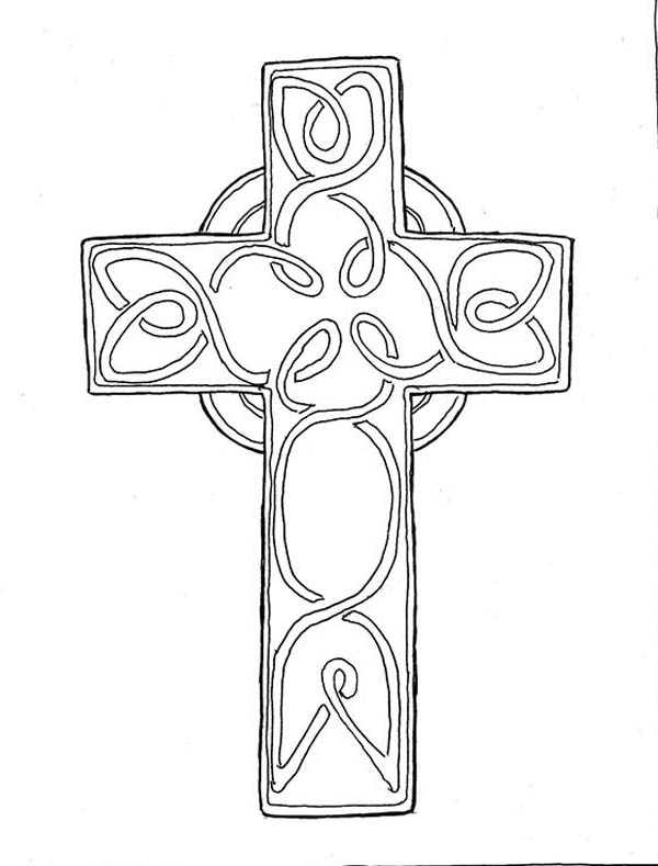 Wooden Cross Coloring Pages