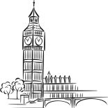 Big Ben For Preschool Kids Coloring Page : Coloring Sun