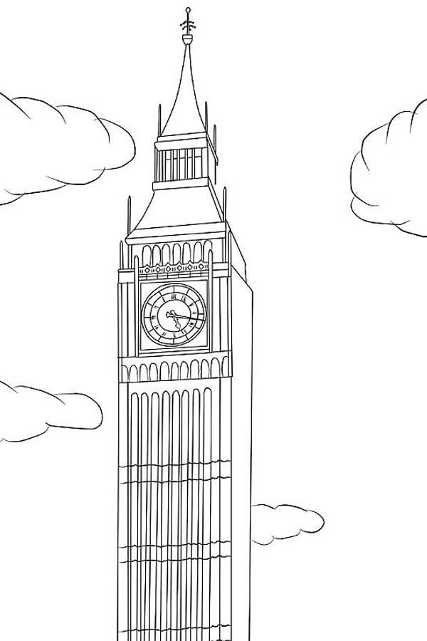 Big Ben Is In London Coloring Page: Big Ben is in London