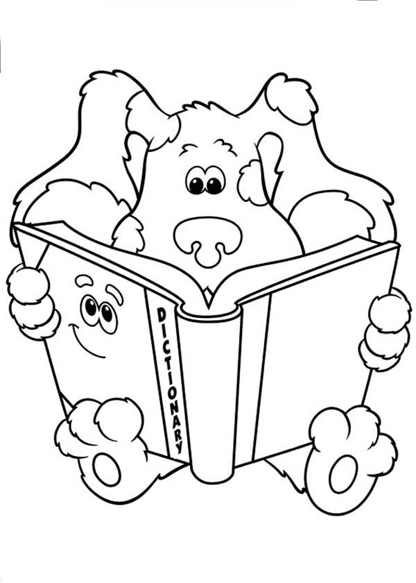 Dictionary Colouring Pages Sketch Coloring Page