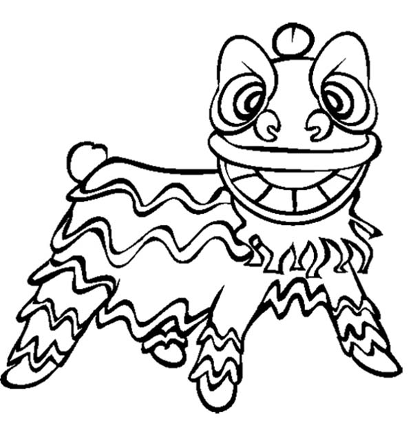 Draw Samples: Chinese New Year Lion Coloring Pages