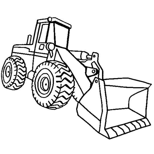 Wheel Loader Coloring Pages Coloring Pages