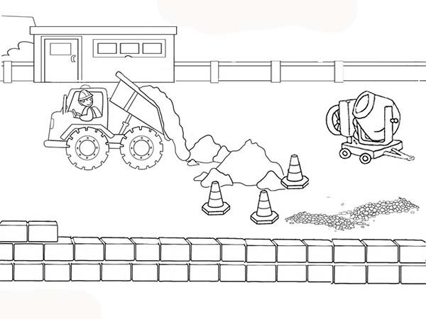Winding Road Coloring Pages
