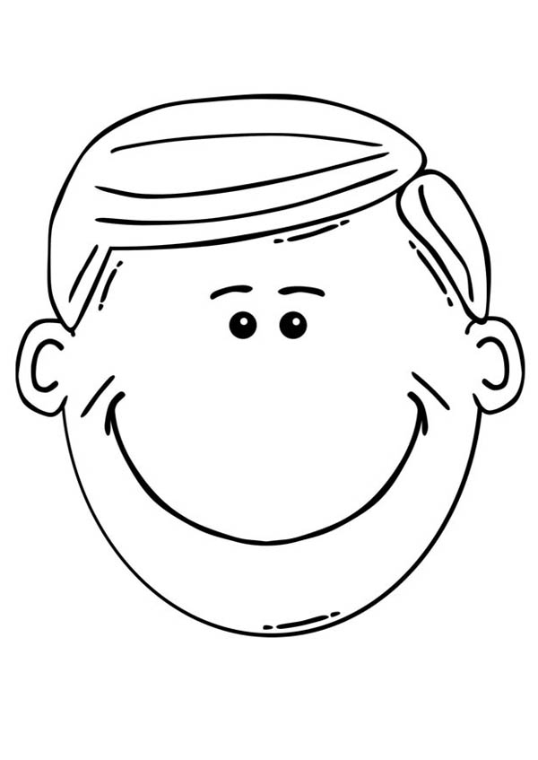 Free coloring pages of a smiling mouth