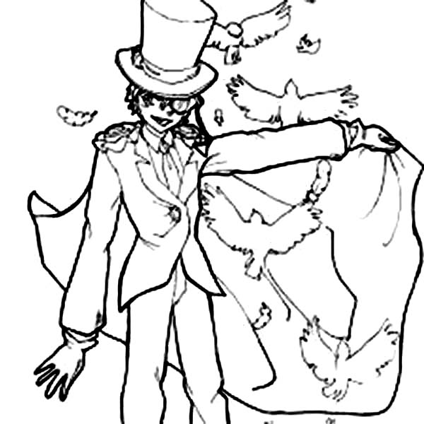 Free coloring pages of thief