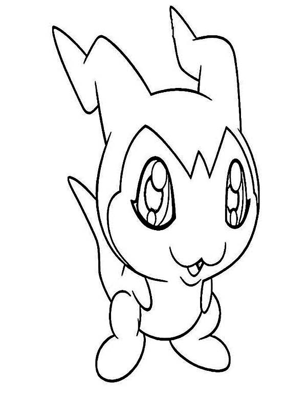 Digimon DemiVeemon is Veemon in Training Form Coloring